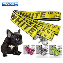 YVYOO  Fashion Letter Pet Lead Leashes for Dogs Cats Nylon Walk Dog Leash Outdoor Security Training Dog Harness 5 colors 160CM