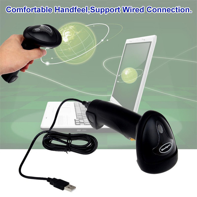 Wireless Barcode Scanner bar Code Reader 2.4G 10m Laser Barcode Scanner Wireless/Wired For Windows CE Blueskysea Free Shipping! 5
