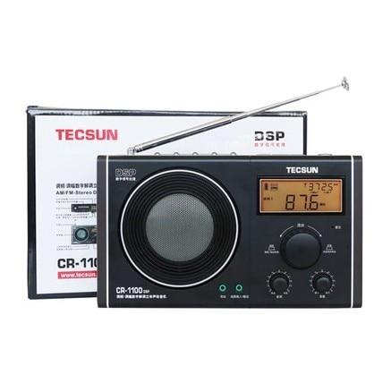 Tecsun CR-1100 DSP AM/FM Stereo Radio 10 pcs tecsun pl 118 radio dsp fm stereo radio etm clock alarm professional receiver black portable radio recorder y4142a