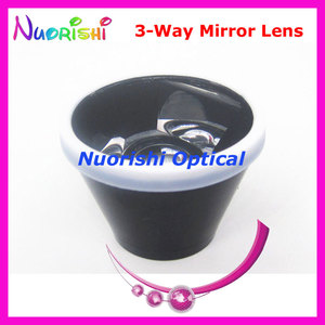 Image 3 - SL13 Ophthalmic Goldman Three 3 Way Mirror Fundus Slit Lamp Contact Lens Black Leather Metal Case Packed Free Shipping