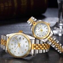 Пару часов 2018 мужские часы лучший бренд класса люкс кварцевые часы Для женщин часы женская одежда наручные часы Мода Повседневное любителей смотреть