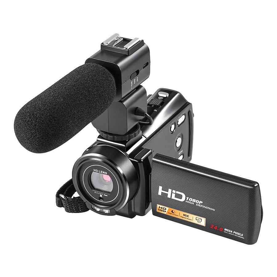 Winai Digital Video Camera Full HD 1080P 24MP Mini Camera Professional With 3'' Touch 16X Zoom Wireless Remote Control