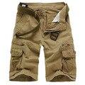 Dos homens novos da Marca Casual Camuflagem Carga calças Soltas Homens Grande Tamanho Multi-bolso Calças Militares Macacão