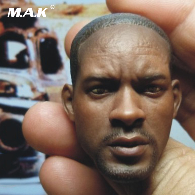 1 6 BT007 Will Smith Am Legend Male Head Sculpt Head Carving Model Fit 12
