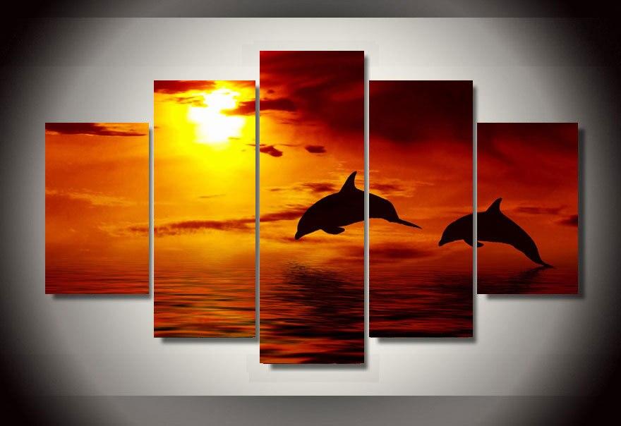 Online get cheap dolfijnen foto alibaba group - Moderne kamer volwassen schilderij ...