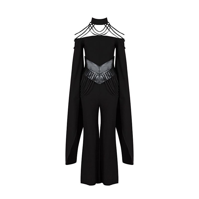 Lâche Vêtement Black Gosexy Nouvelle 2017 D'automne Mode Sexy La Longueur Toute Solide Femmes vA6XqAw