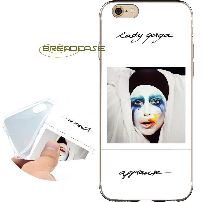 Coque Lady JOANNE GAGA Shell Cases for iPhone 10 X 8 7 6S 6 Plus 5S SE 5 5C 4S 4 iPod Touch 6 5 Soft Clear TPU Silicone Cover.