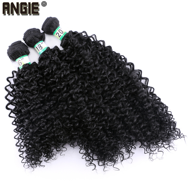 Kinky Curly Hair Bundles Synthetic Hair Weave 3pcs/Lot 210g Ombre Hair Bundles Extensions for Women