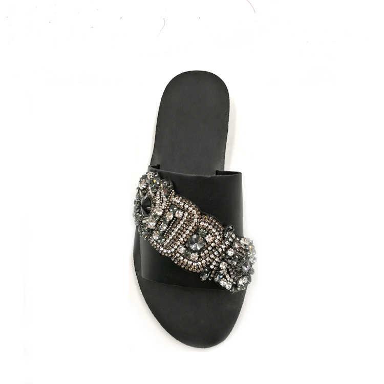 Bohem tarzı Gelin Düğün parti ayakkabıları Aksesuarları yüksek Topuklu Sandalet Botlar Manuel Rhinestone Dekorasyon Ayakkabı çiçek