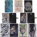 Para Samsung Galaxy Tab 8.0 T350 T351 SM-T355 funda 8 pulgadas de la tableta de flor de Pintura de LA PU Del Soporte Del Cuero Protectora bolsas Y4D40D