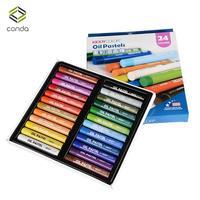 24 Pcs Assorted Colors Kid Crayon Oil Pastel Set Art Craft Draw Non Toxic CONDA