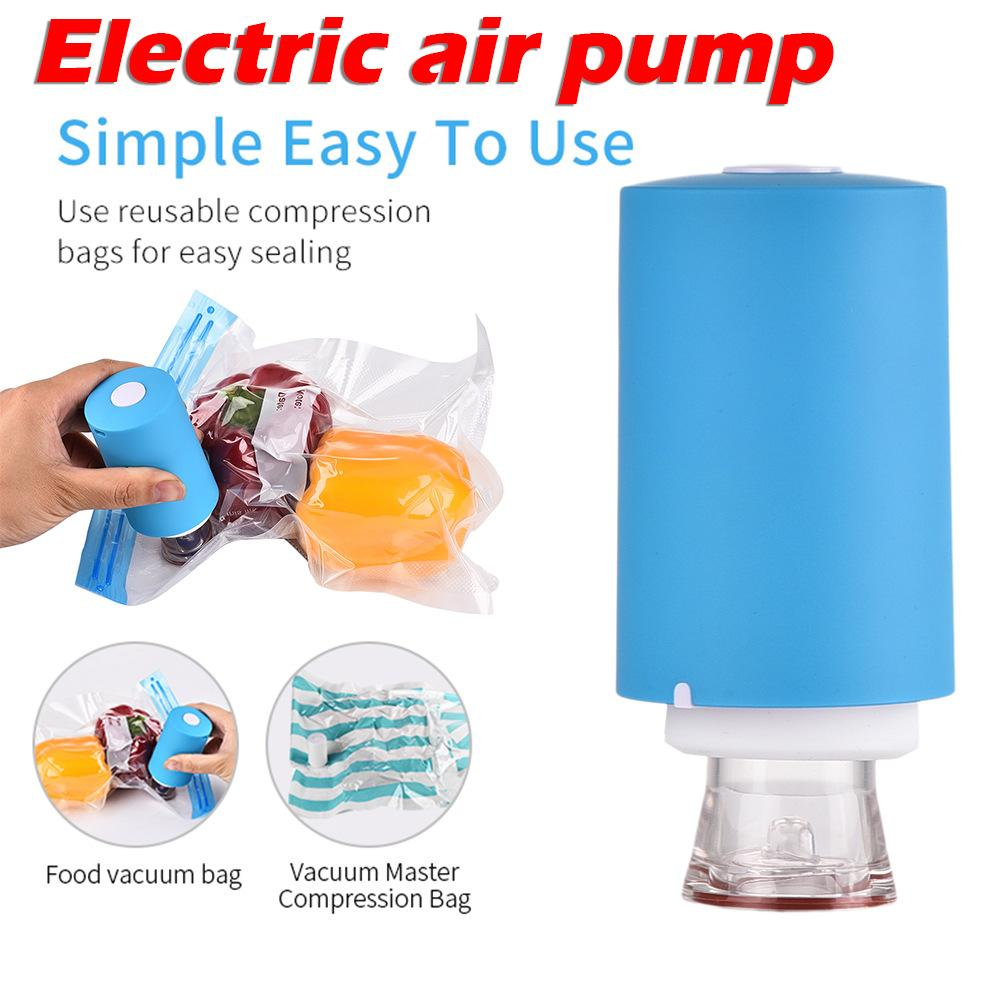 Multi-functional Dual-use Electric Air Pump Travel Compression Bag Vacuum Storage Bag Air Extractor(China)