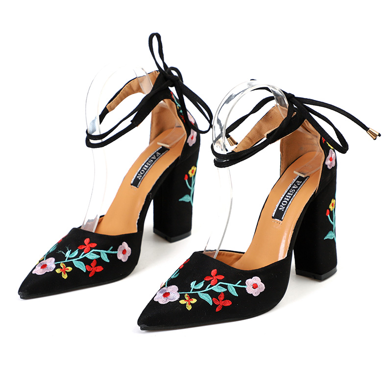 High Heels Plus Size Embroidery Pumps