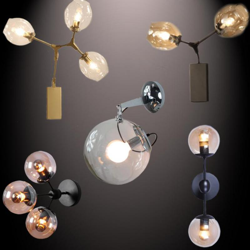American Style Exotic Beans, Bubble Glass, Wall Lamp for Bedroom, Bed, Study, Dining Hall, Aisle, Balcony, Lamps N1388 american dj bubble junior купить