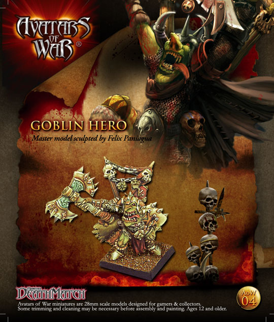 WFB Goblin Hero Goblin 28mm