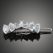 Nice Cutting High Quality AAA CZ Trendy Barrettes Fashion Hair Clips for Women Girls F00013