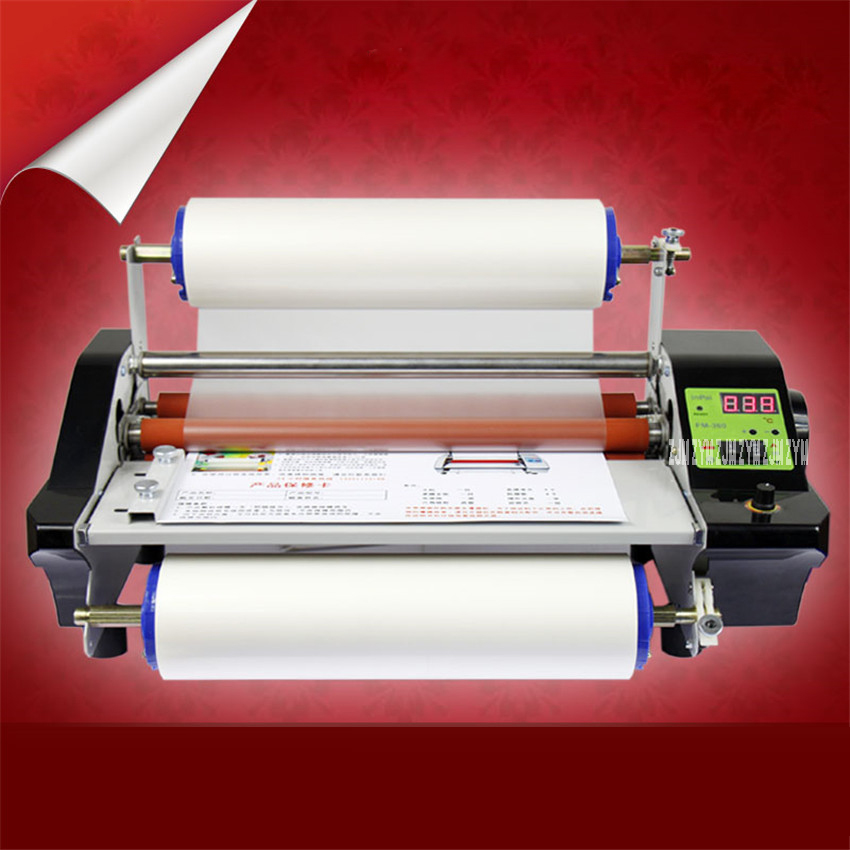 CNC stepless speed modulation FM360S Hot Cold Laminator hot mounted stickers cold mounted photo lamination film