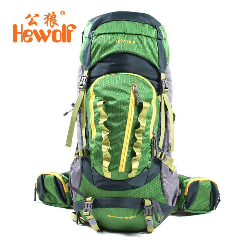 Hewolf 55L Outdoor Backpack Unisex Travel Multi-purpose climbing backpacks Hiking big capacity Rucksacks camping sports bags тент шатер greenell нейс цвет зеленый 95285 303 00