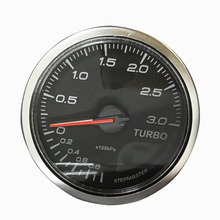 2.5 Inch 60mm 0-3 Bar Turbo Boost Auto Gauge with Electronic Sensor 7-color backlight