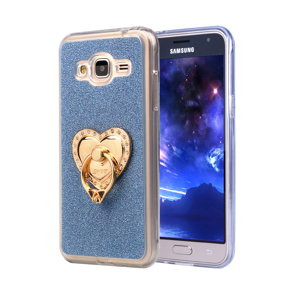Luxury Glitter Case For Samsung Galaxy Grand Prime G530H/Neo i9060 /S Duos S7562 Silicon Diamond Ring Soft Cover Stand Phone Bag ...