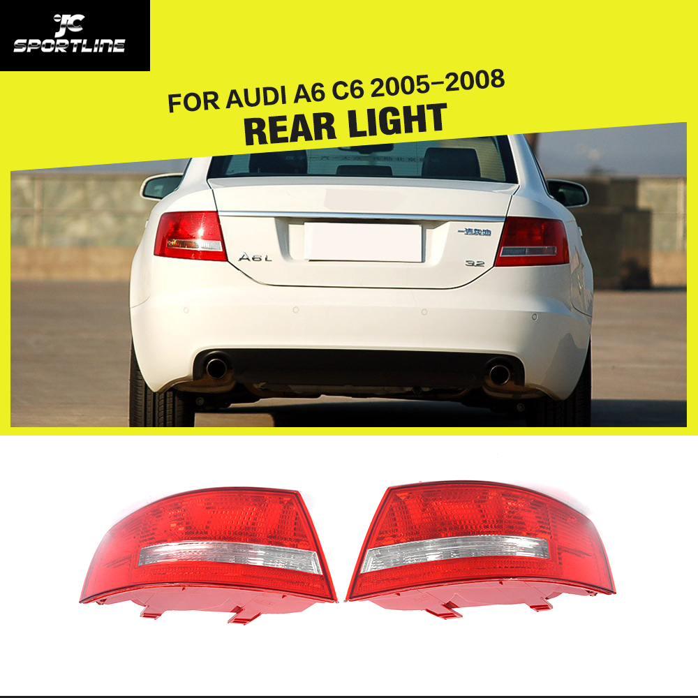 Left with right 2005 2008 for audi a6 c6 sedan halogen tail lamp rear light
