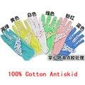 Защитные перчатки для сада, 10 pairs Мода Перчатки 100% Хлопок Противоскользящие Личной Безопасности На Рабочем Месте, Мягкий Трикотаж Женщин Садовые Перчатки