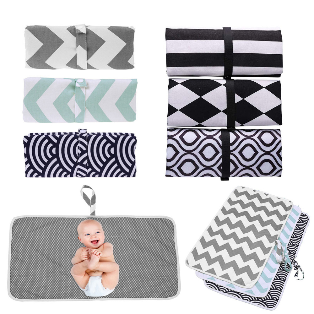 1pcsBaby Portable Foldable Washable Compact Travel Nappy Diaper Changing Mat Waterproof Baby Floor Mat Change Play Mat Baby Care