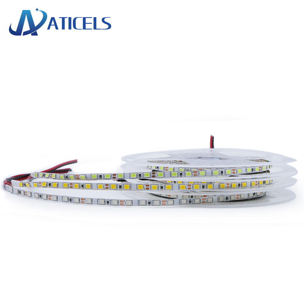 <font><b>4mm</b></font> Narrow Width DC12V <font><b>LED</b></font> Strip 2835 120led/m 5m IP20 No waterproof Flexible Strip Light White,Warm white,Blue,Green,Red image