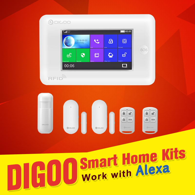 цена на [CN US Warehouse] Digoo DG-HAMA Domotica support Alexa Compatible WIFI Home Kits System Smart Home Automation Black White