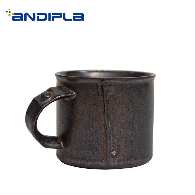 Tasse en céramique créative de Cappuccino de café de glaçure en métal de poterie de 260 ml pour la maison