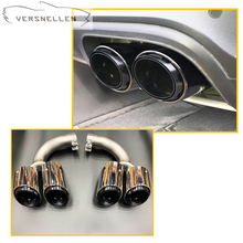 Car Stying Tail Exhaust Muffler Tips Pipe For Porsche Cayenne 2018-2019 304 stainless steel jet style