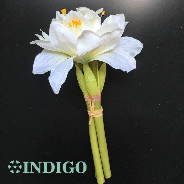 Indigo white amaryllis bunch orchids bouquet bride wedding flower indigo white amaryllis bunch orchids bouquet bride wedding flower artificial flower floral event party free mightylinksfo
