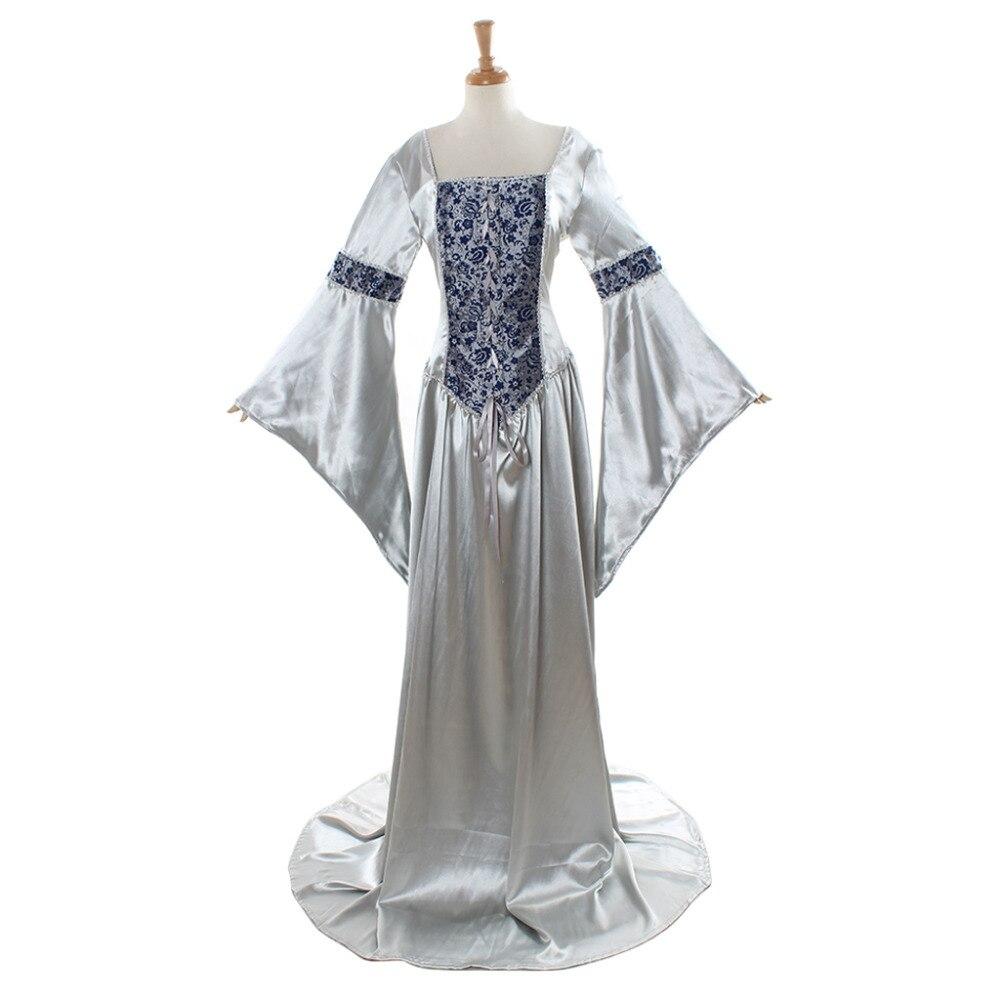 Woman's Civil War Dress Medieval Renaissance Victorian Gothic Lolita Dresses Gown Halloween Carnival Cosplay Costume