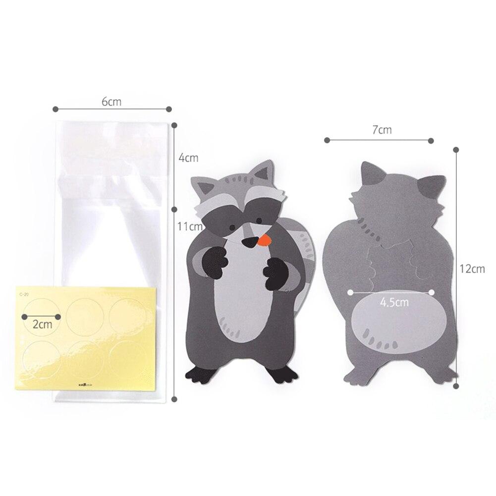 10 шт./лот, милые животные, медведь, кролик, коала, сумки для конфет, поздравительные открытки, сумки для печенья, подарочные сумки для детского душа, украшения для дня рождения