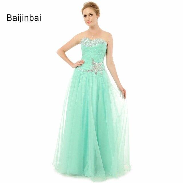 Vestidos Baijinbai Real Largos 2018 Graduación Elegante Del