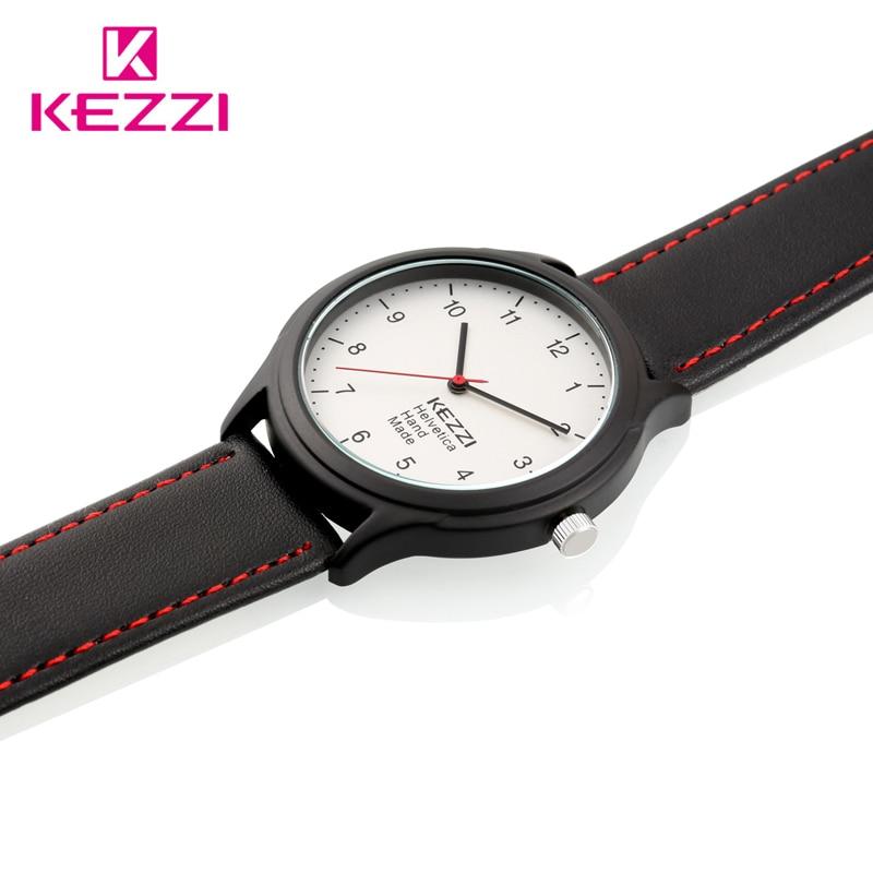 KEZZI Brand Vintage Leather Watches Men Casual Business Big Dial Quartz Watches eagle Animal clock relojes hombre
