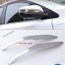 For TOYOTA RAV4 Hybrid 2016 Stainless Steel Side Door Mirrors Rearview Stripe Cover Trim цена