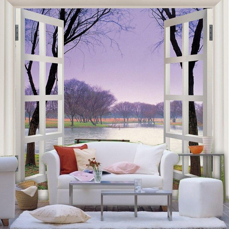 Custom Trees Modern living room sofa backdrop wallpaper wall paper aisle large mural new stereoscopic 3D landscape