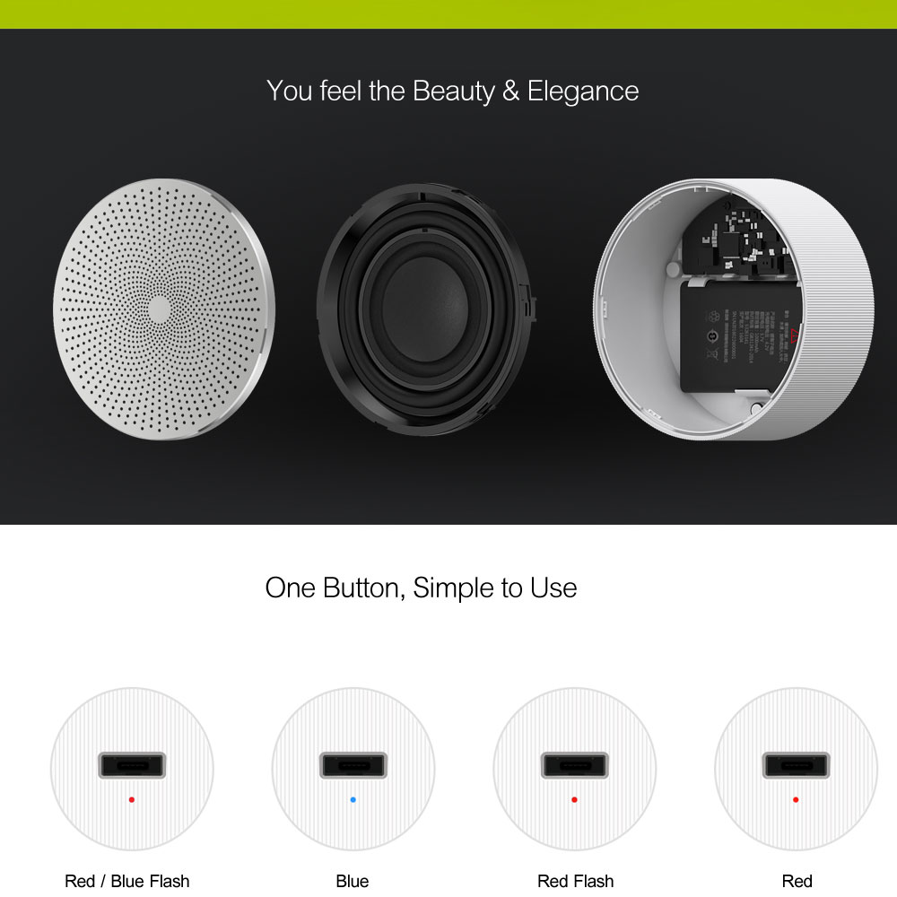 Xiaomi Mi Bluetooth Speaker Stereo Wireless Mini Portable Bluetooth Speakers Music MP3 Player Small Steel Round Speaker 100% Original  (11)