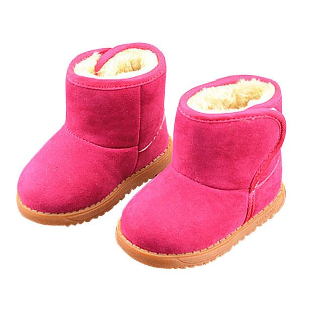Bebé Del invierno Del Niño de Algodón de Estilo de Arranque Botas Niñas botas de Nieve Caliente
