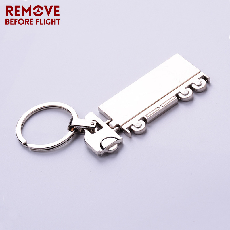 Remove Before Flight Keychain New Jewelry 3D Truck Shaped Trendy Keyring Keychain For Car Key Holder Key Chains Pendant Key Ring