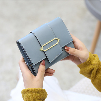 Fashion Short Women Wallet Female PU Leather Womens Wallets Hasp Design With Coin Purse Pockets Multi-functional Purse Card