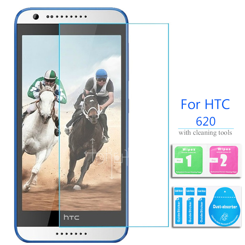 For HTC desire 620 Tempered Glass Screen Protector 2.5 9h Safety Protective Film on 620G D620H 820mini 820 mini D620u Dual Sim