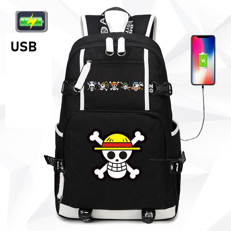 Anime One piece backpack UNISEX new backpacks USB charge canvas backpack Anime BackpackAnime One piece backpack UNISEX new backpacks USB charge canvas backpack Anime Backpack
