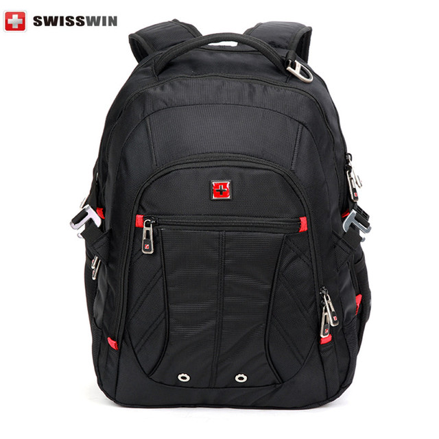 c6e75f2c2d Swisswin Men Laptop Backpack Mochila Masculina 15 Inch Man's Backpacks  Men's Luggage & Travel Bags Sports Swissgear Bag SW81101