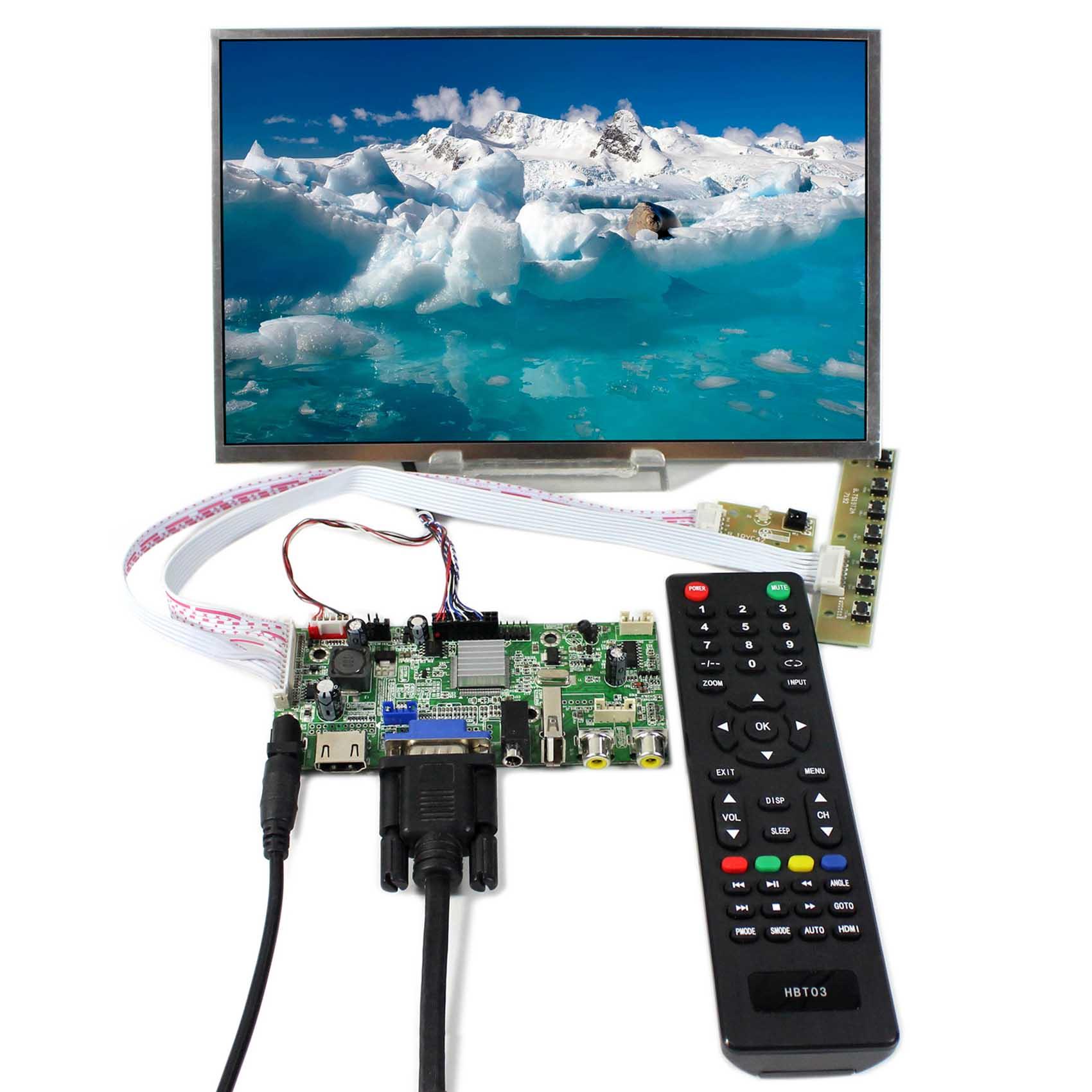 10.1inch LP101WX1 B101EW05 1280x800 LCD Screen With HDMI VGA AV Audio USB LCD Controller Board VS-V59AV-V1 tv hdmi vga av usb audio lcd controller board 10 1inch b101ew05 1280 800 lcd hsd101pww1