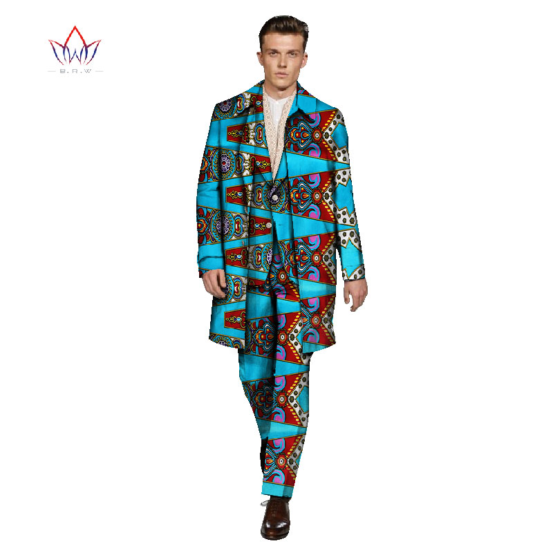 Traditional African Clothing Slim Fit 3 Piece Mens Suits Dashiki Men Suit Retro Gentleman Style Mens Brand-Clothing 6XL WYN236
