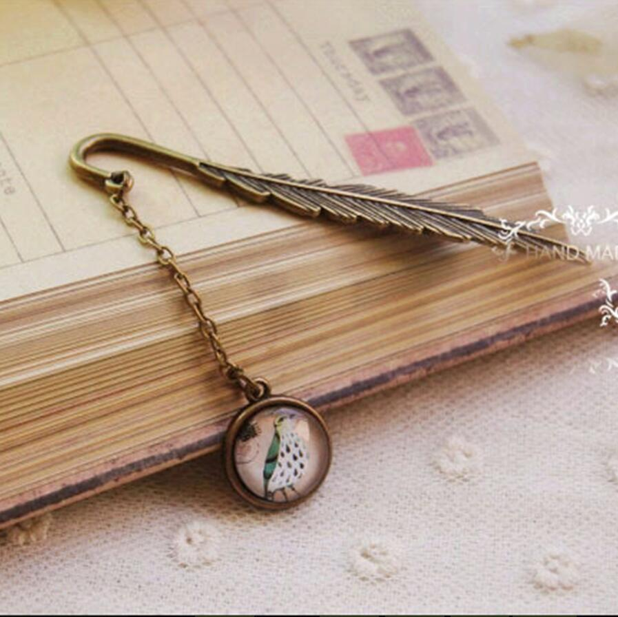Student DIY Cute Cartoon Kawaii Bird Metal Bookmark Clips Vintage Retro Tower Book Markers For Kids School Supplies 3020