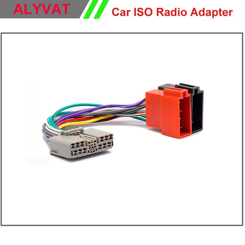 Car Iso Stereo Adapter Connector For Honda Mitsubishi Outlander Xl Peugeot 4007 Citroen C