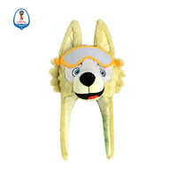 Mascot Plush Wolf Hat Cartoon Animal Style Kids Cap Soft Toys Brand Designer Top Quality
